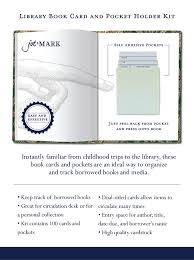 library cards and pockets jot library book card and pocket holder kit