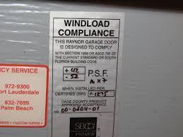 garage door wind mitigation internachi inspection forum garage door wind mitigation img 4194 jpg