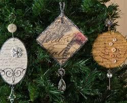 vintage diy ornaments mod podge rocks