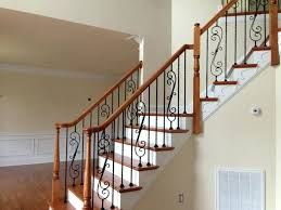 210 open aluminum wrought iron handrail with c scrolls in virginia
