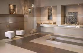 Beige Bathroom Tiles by Meisha Garam Beige Bathroom Tiles With Tiny Geometric Pattern