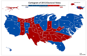 Early Election Results Map by The Art Of Cartogram Stko Lab Map Cartogram Pinterest