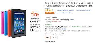 black friday tablet deals amazon deal alert get the previous gen 7