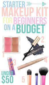 i present to you a starter kit of good quality inexpensive makeup