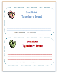free event ticket template
