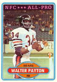 1980 topps walter payton 160 football card value price guide