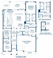 bayshore i a new home floor plan at waterset inspiration 60 u0027s by