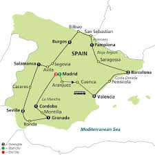 San Sebastian Spain Map by Cosmos Tours Grand Tour Of Spain 2016