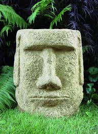 easter island garden sculpture