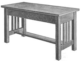 mission style table ls how to make mission furniture part iii piano bench hall tree