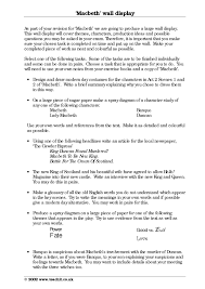 revision cover letter ks3 macbeth teachit english