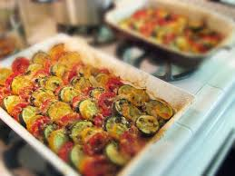 Roasted Vegetables Ina Garten by Vegetable Tian Anatomy Of A Dinner Party Buffet For 12 Sis