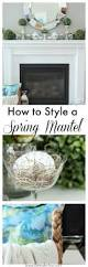 spring mantel decorating ideas setting for four