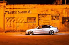 night photo shoot e55 on drag wheel setup mbworld org forums