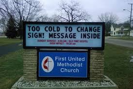 15 church signs that are going to hell reader s digest