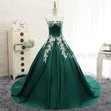 green wedding dresses s bridal green wedding dress strapless shoulder