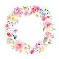 flower wreath silhouette design store view design 173728 watercolor flower