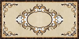 marble flower waterjet marble flooring border designs