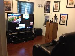 living outstanding small man cave media room ideas brown