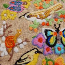 happy in nature vintage needlepoint cushion cover bink boo