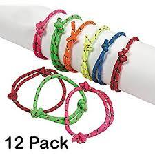 party favor bracelets rope friendship bracelets pack of 12 fits most