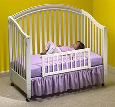 Crib Bed Convertible The In Addition To Lovely White Wooden Bed Rail Intended