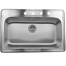 hahn stainless steel sink single bowl kitchen sink new stainless steel 33 inch self rimming