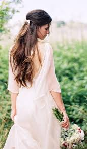casual long hair wedding hairstyles 54 best bridal hair half up half down images on pinterest