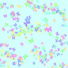 colorful butterfly pattern on blue background girt wrap stock