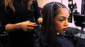 medium length hairstyles with weave side parting weave leave out youtube