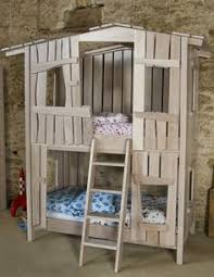 Add A Fun Facade To Bunk Bed Kids Spaces Pinterest Bunk Bed - Treehouse bunk beds