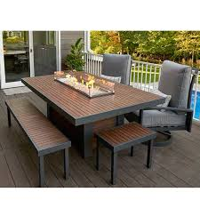 outdoor greatroom fire table outdoor greatroom kenwood dining height fire table kw 1242 k