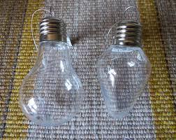 plastic fillable light bulb shaped ornament diy set of 5