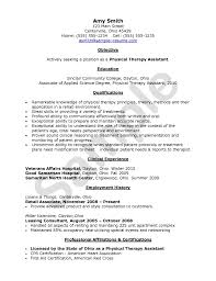 Employment History Example Physical Therapist Aide Resume Samples Physical Therapist Resume