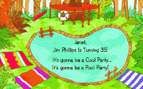 cool pool party invitation celebrate summer printable card