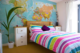 World Map Bedding Premium Wall Maps For Interior Design Projects Maps