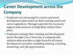 career development plans cisco career development