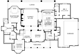 Country Style House Floor Plans | country style house plan 4 beds 4 50 baths 4323 sq ft plan 61 134
