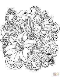 coloring pictures of flowers to print floral coloring pages skylark and flowers page free printable