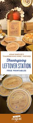 thanksgiving leftover station just add confetti