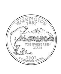 coloring pages quarter usa printables washington state quarter us states coloring pages