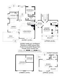 Tri Level House Plans Summerland Ocean View Craftsman Home Out West Development Llc