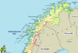 Map Of Northern Europe Norway