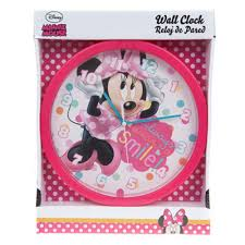 Childrens Bedroom Wall Clocks Minnie Mouse Wall Clock Multi Colour Amazon Co Uk Kitchen U0026 Home