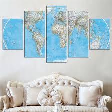 Wall Art World Map by Online Get Cheap Wall Art Canvas World Map Aliexpress Com
