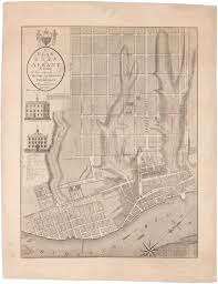 albany map the printed map of albany york antique maps