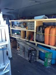 Building Wood Shelves For Storage by Wood Storage Shelving For Cargo Vans Vehicles Contractor Talk