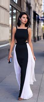 black and white dresses black and white side panel dresses fashion white dress