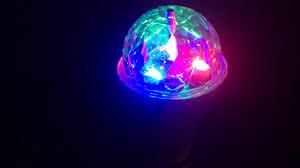 Disco Light Bulb Jml Disco Led Light Bulb Ball Ceiling Or Plug In Lamp Youtube
