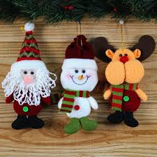 New Year Ornaments Craft Aliexpress Buy 2017 Santa Dolls Gifts Pendant Tree